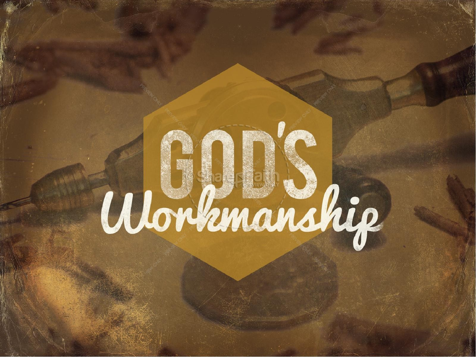 God's Workmanship Religious PowerPoint | slide 1