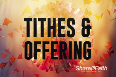 Abstract Ball Tithes and Religious Offerings Video