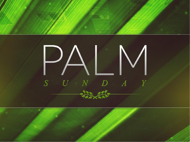 Palm Sunday Ministry Easter Graphics PowerPoint