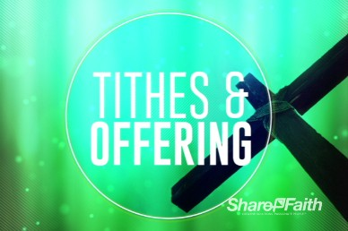 Abstract Cross Easter Tithes and Offerings Religious Video