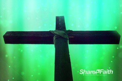 Abstract Cross Center Easter Worship Video