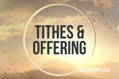 Abstract Mountain Tithes and Offerings Video