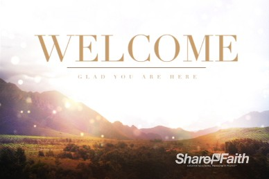 Mountains Greetings Welcome Video