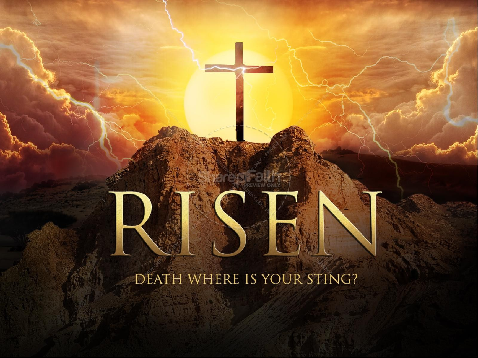 Death Where is Your Sting Easter Graphics Religious PowerPoint