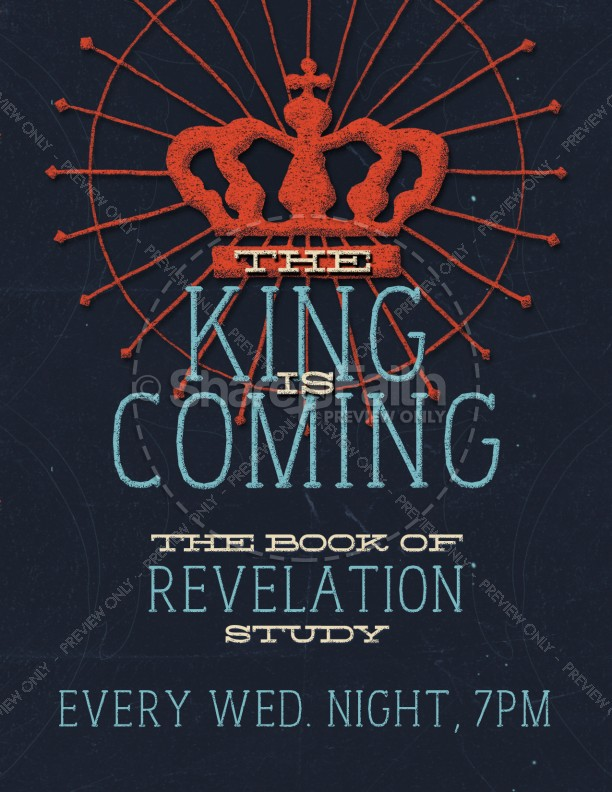 the king is coming religious flyer