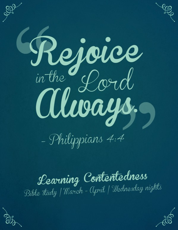 Rejoice in the Lord Ministry Flyer