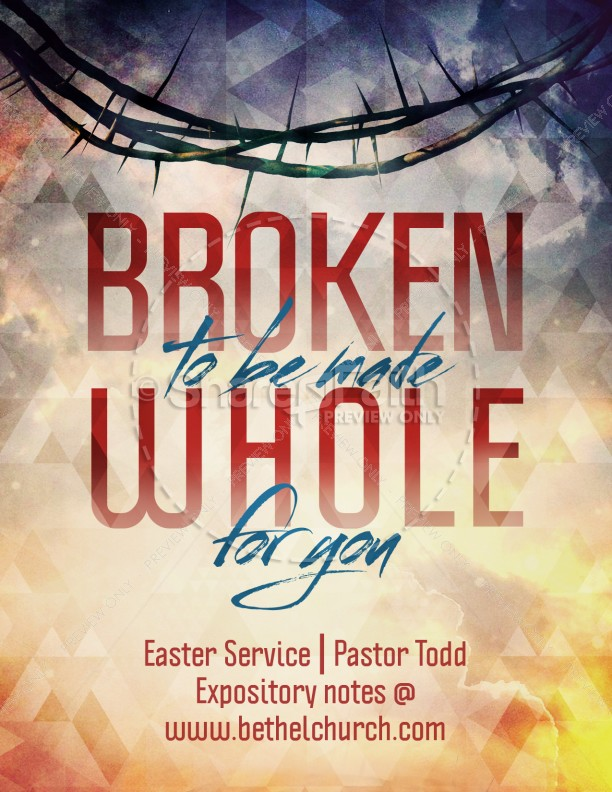 broken for you ministry flyer