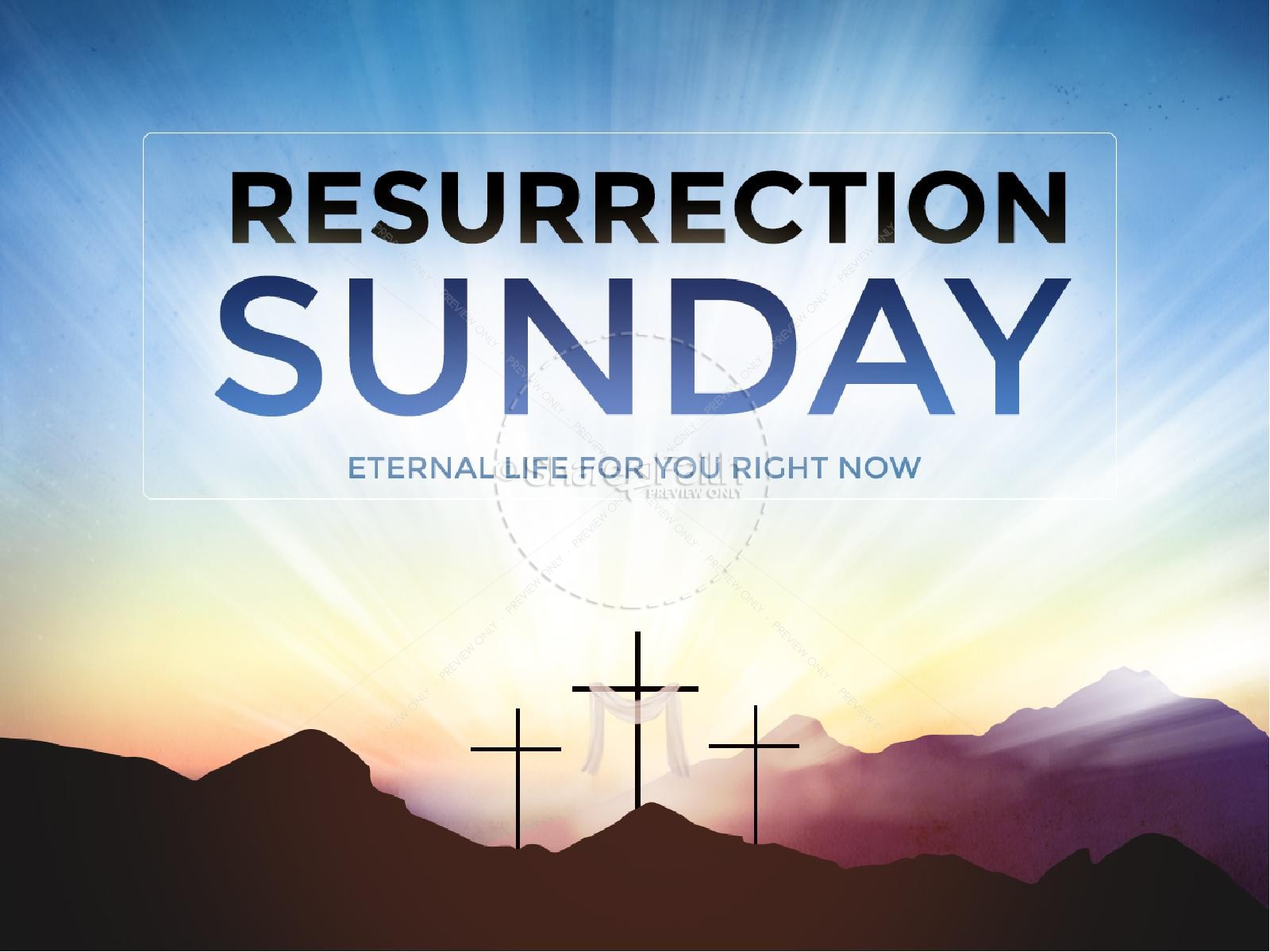 Resurrection Sunday Easter Graphics Ministry PowerPoint | slide 1