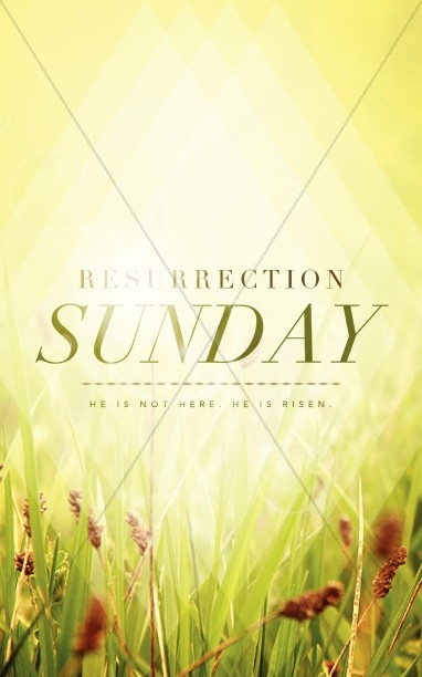Resurrection Sunday He is Risen Christian Bulletin