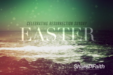 Faith Through Tides Christian Easter Greeting Video Loop