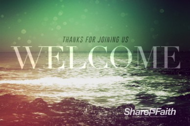 Faith Through Tides Christian Welcome Video Loop