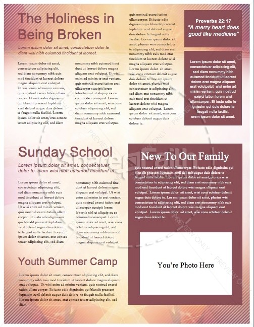Season of Lent Religious Newsletter
