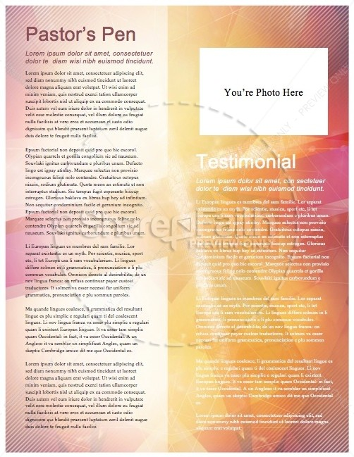 Season Of Lent Religious Newsletter Template  Newsletter Templates