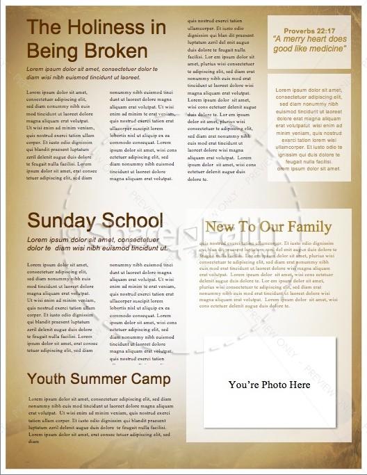 God's Workmanship Religious Newsletter