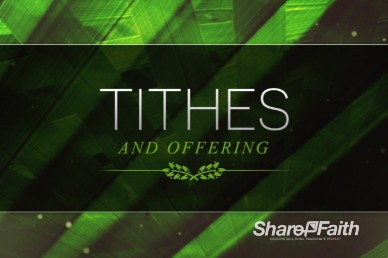 Palm Sunday Ministry Tithes and Offerings Video