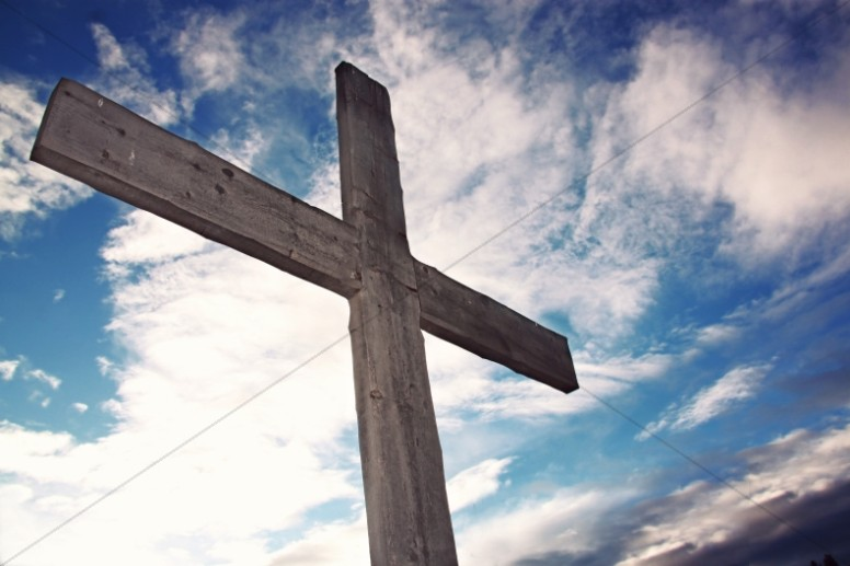 Cross of Salvation Christian Stock Photo