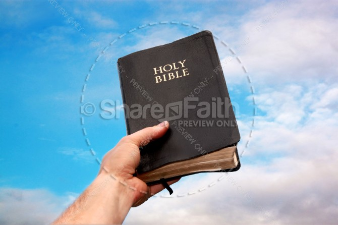 Bible in the Sky Christian Stock Photo