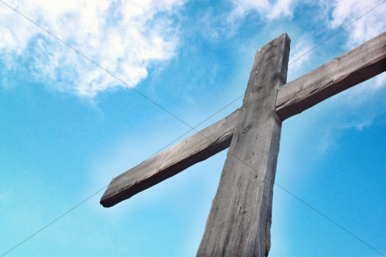 Cross in the Sky Religious Stock Image