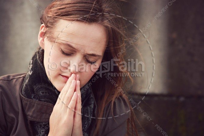 Woman in Prayer Ministry Stock Photo