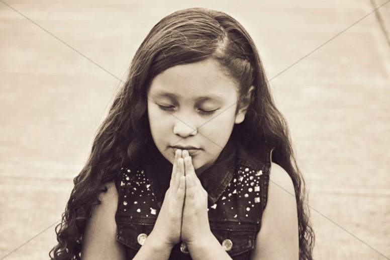 Praying Child Christian Stock Photo