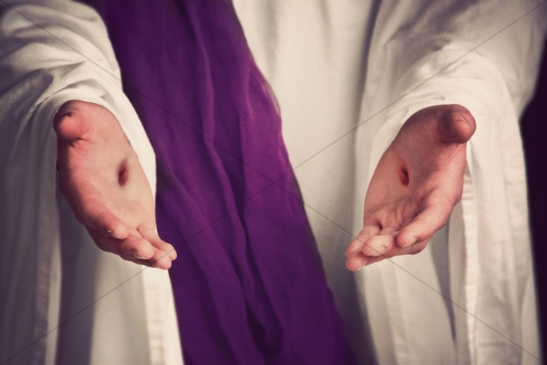 Scars of Jesus Religious Stock Photo