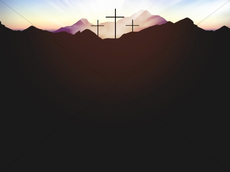 Resurrection Sunday Contrast Easter Worship Background