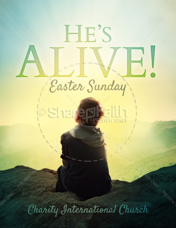 Resurrection Sunday Alive Religious Flyer