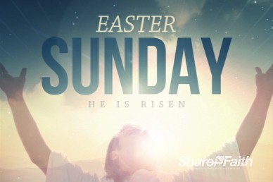Jesus Risen Savior Easter Welcome Video Loop