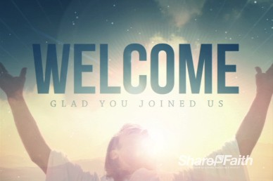 Jesus Risen Savior Religious Welcome Video Loop