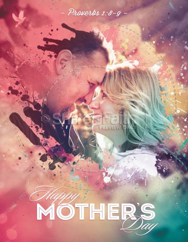 Splash Of Love MotherS Day Flyer Template  Flyer Templates