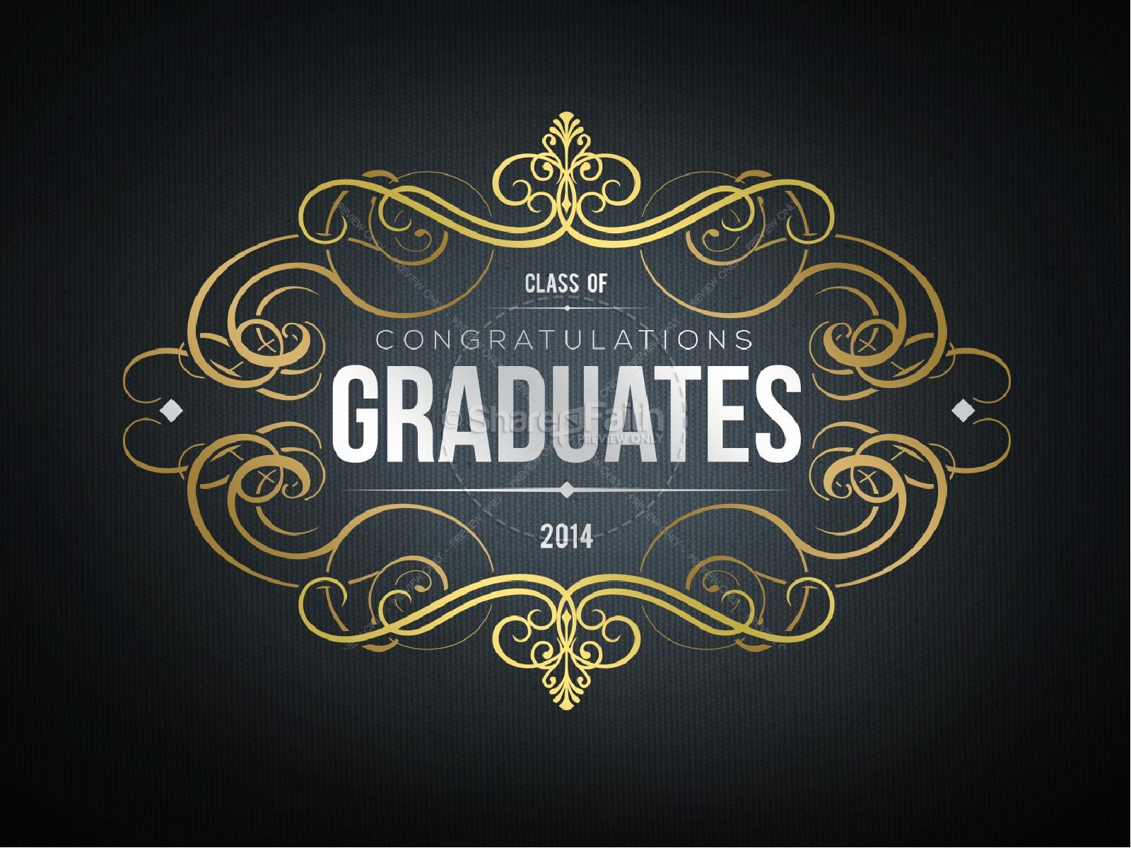 Graduation Party Slideshow PowerPoint Graphics