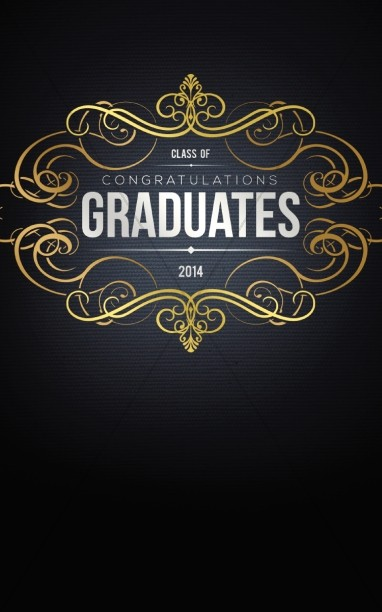 Graduation Design Cover Program Template  Secular Holiday