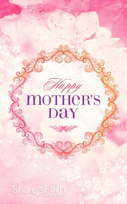 Happy mothers day christian bulletin mothers day bulletin covers m4hsunfo