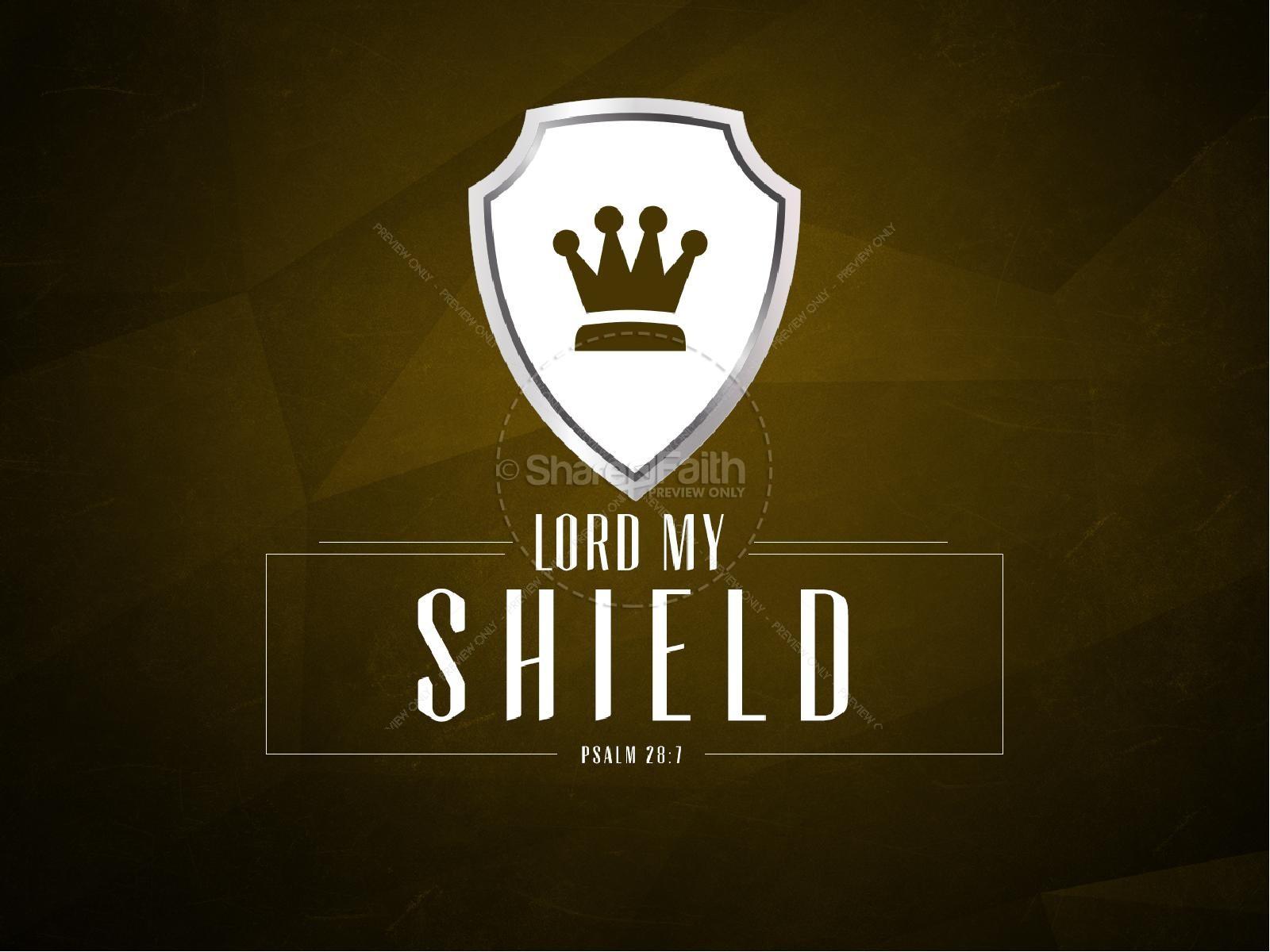 Lord My Shield Psalm 28 Church PowerPoint Sermon   slide 1
