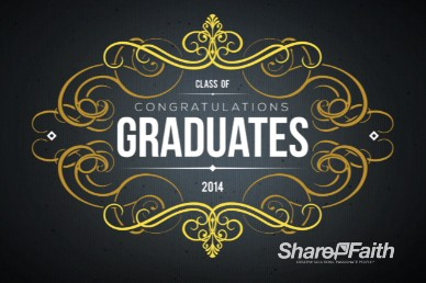 Graduation Party 2014 Event Graphics Invitation Religious Video Loop