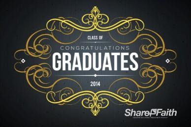 Graduation Party 2014 Event Graphics Invitation Religious Video Loop
