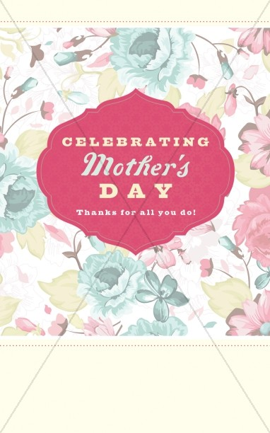Happy Mother's Day Religious Program Cover