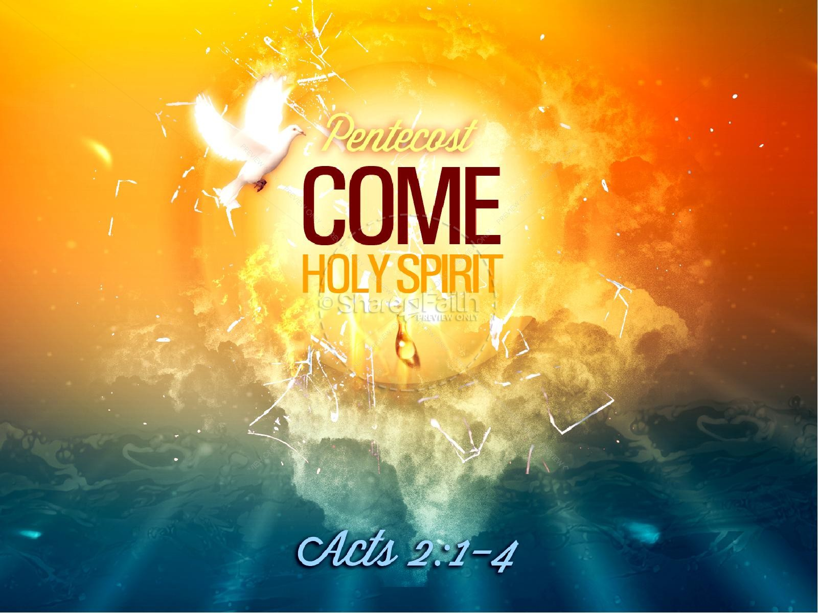 Pentecost Come Holy Spirit Christian PowerPoint