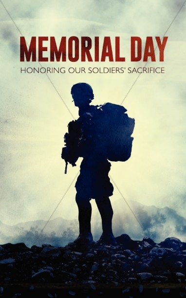 Memorial Day Bulletin Cover For Memorial Day Service