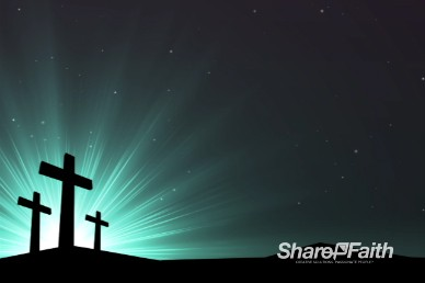 Abstract Cross Blue Green Worship Video Loop
