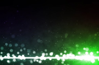 Colorful Particles Green Worship Video Background