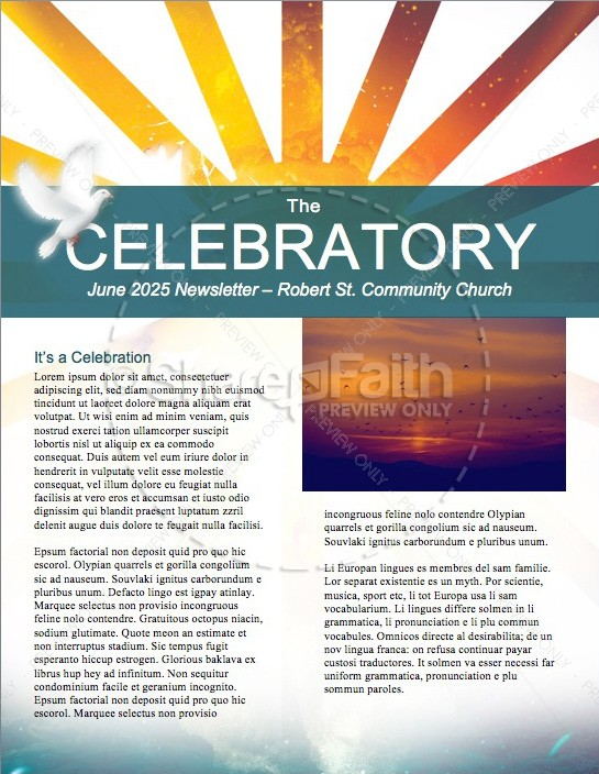 Day of Pentecost Spring Church Newsletter