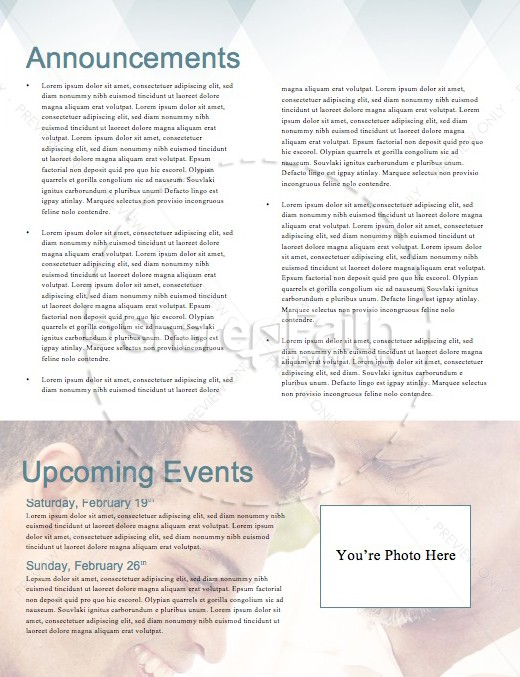 A Father of Faith Christian Newsletter Template | page 4