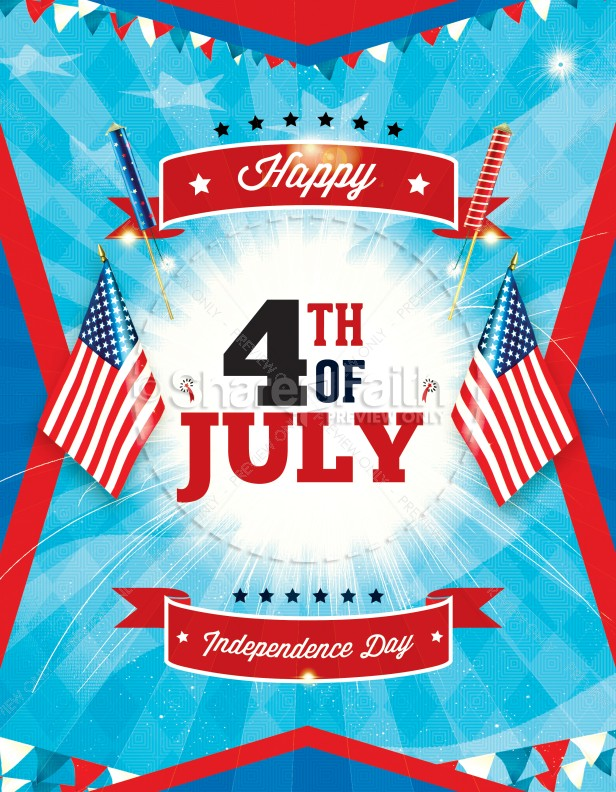 Independence Day 4Th Of July Religious Flyer Template | Flyer