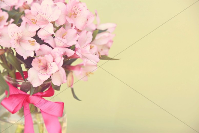 Flowers Vintage Vase Ministry Stock Photo