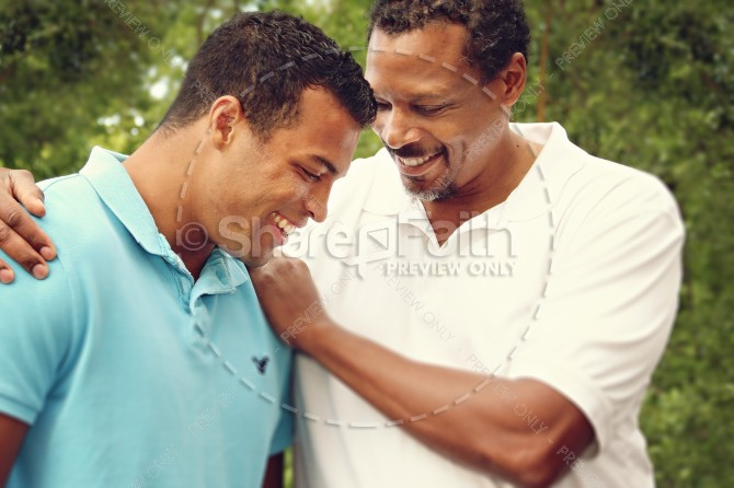 A Father of Faith Religious Stock Photo
