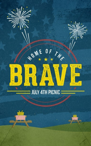 Home of the Brave Fourth of July Church Bulletin