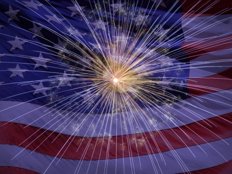 Celebrate USA Religious Stock Image