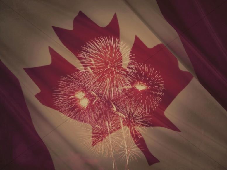 Celebrate Canada Religious Stock Image