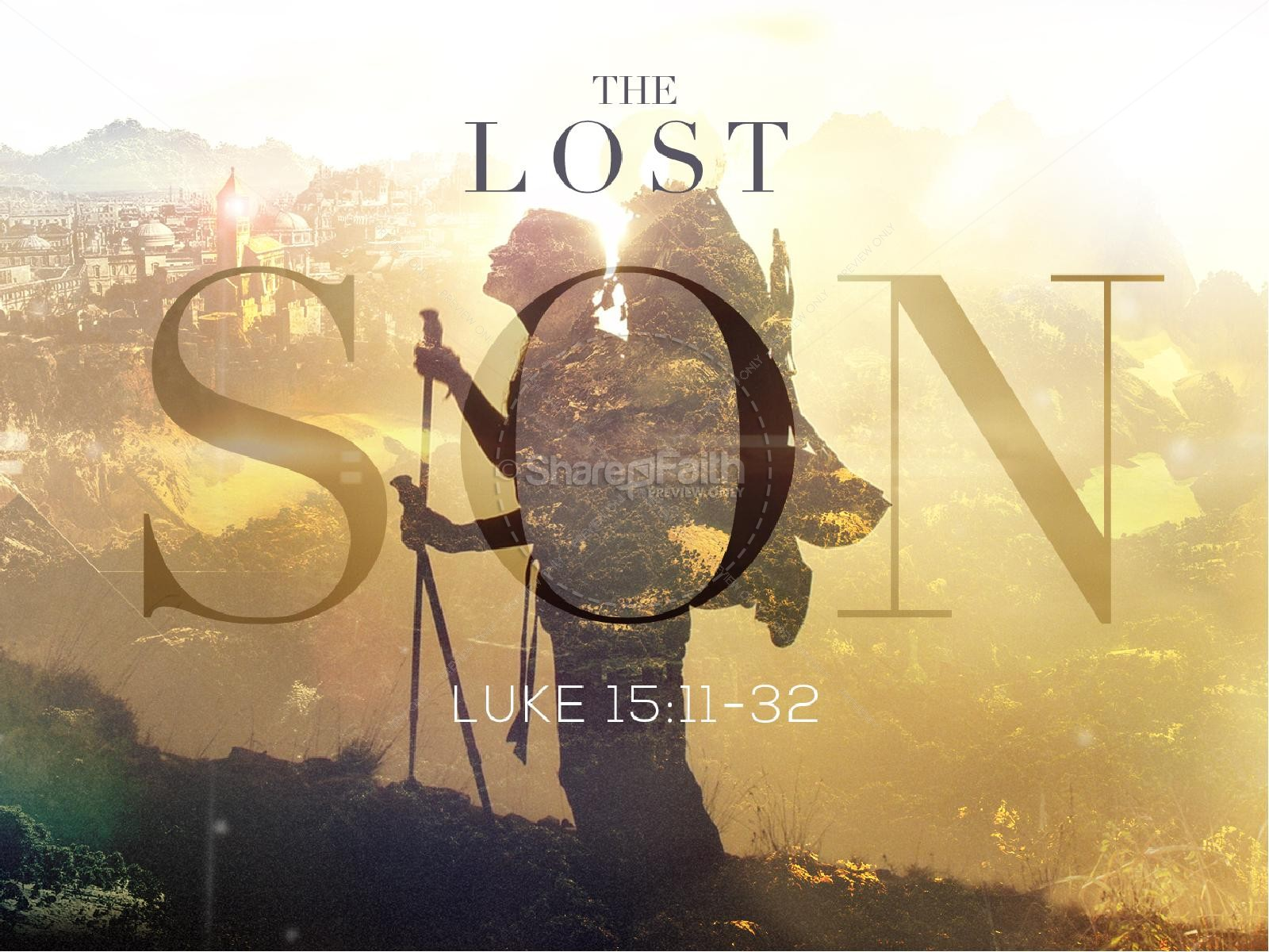 The Lost Son Church Powerpoint Template Powerpoint Sermons